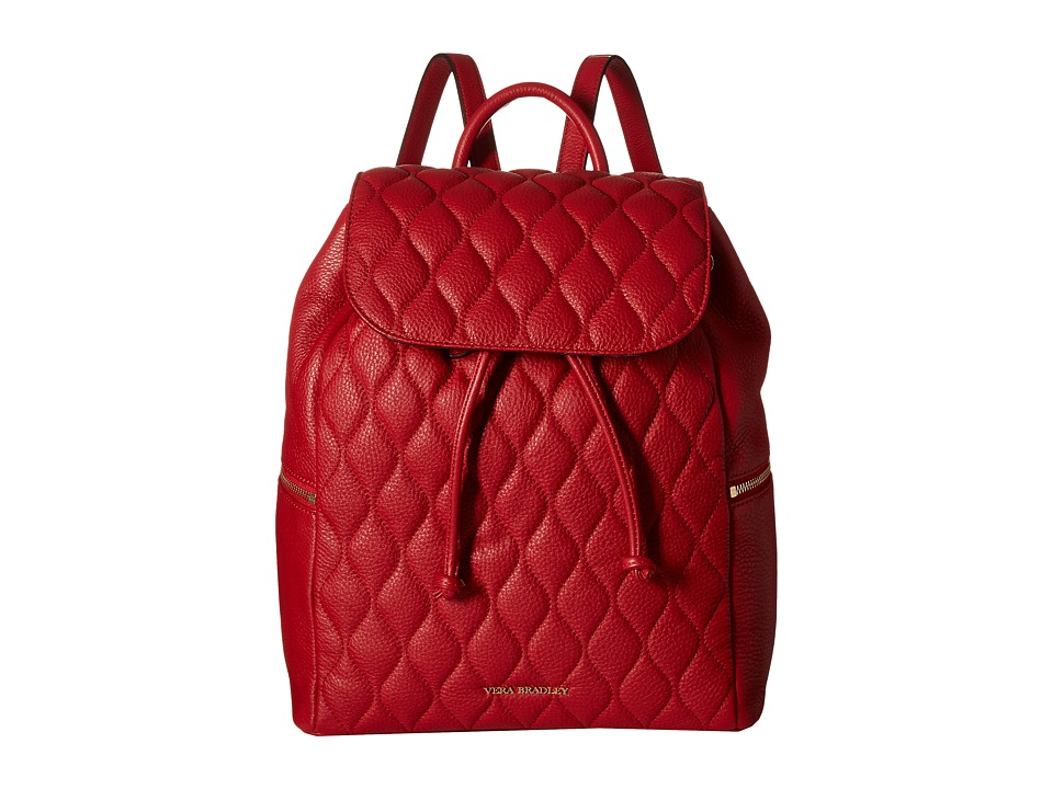 Vera Bradley - Quilted Amy Backpack (Tango Red) Backpack Bags