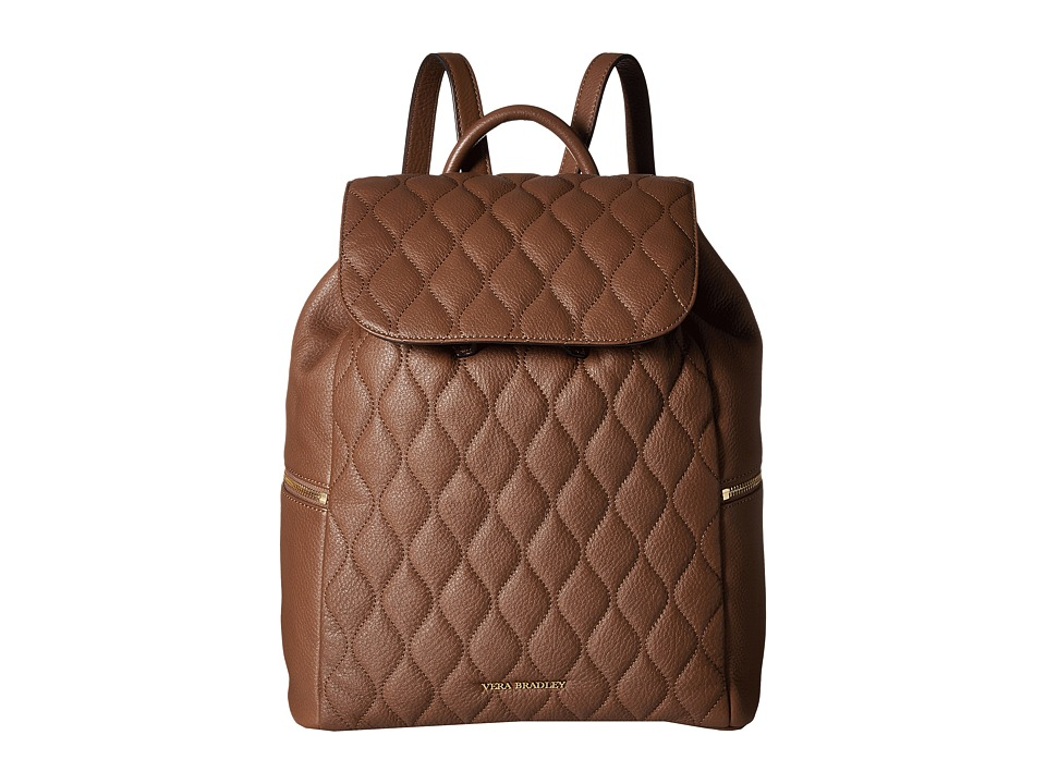 Vera Bradley - Quilted Amy Backpack (Cognac) Backpack Bags