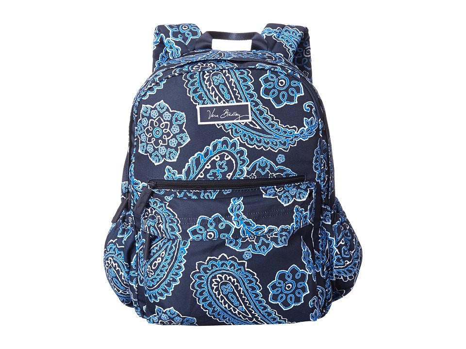 Vera Bradley - Lighten Up Just Right Backpack (Blue Bandana) Backpack Bags