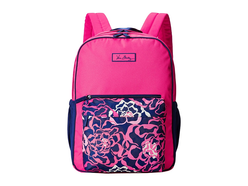 Vera Bradley - Large Color Block Backpack (Katalina Pink) Backpack Bags