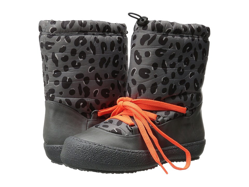 Stella McCartney Kids - Boomer Leopard Snow Boots (Little Kid/Big Kid) (Gray) Girls Shoes