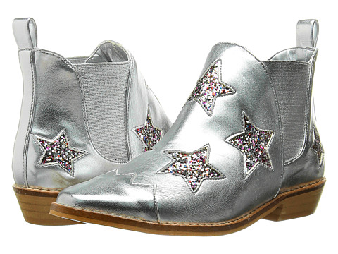 Stella McCartney Kids - Lily Star Glittered Boots (Little Kid/Big Kid) (Silver) Girls Shoes