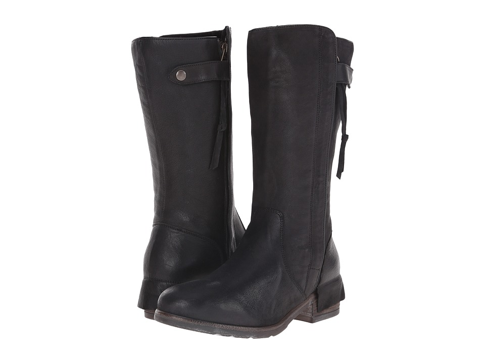 UGG Collection - Enna (Nero Leather) Women's Zip Boots