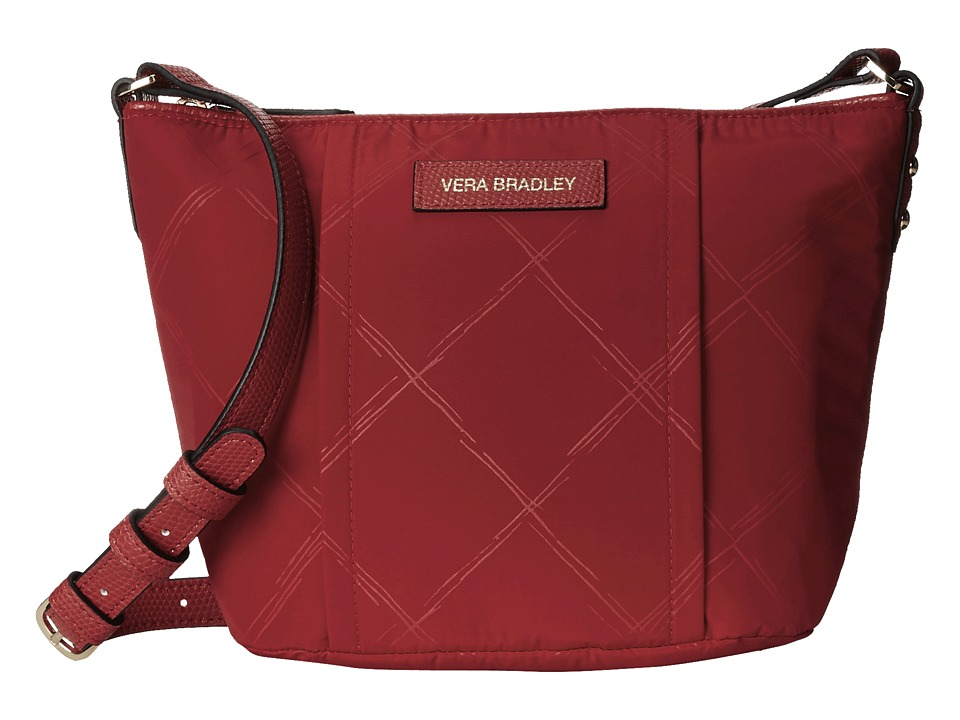 Vera Bradley - Preppy Poly Crossbody (Tango Red) Cross Body Handbags