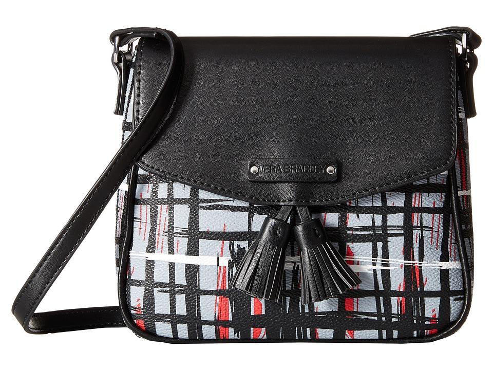 Vera Bradley - Tassel Crossbody (Black/White Art Plaid) Cross Body Handbags