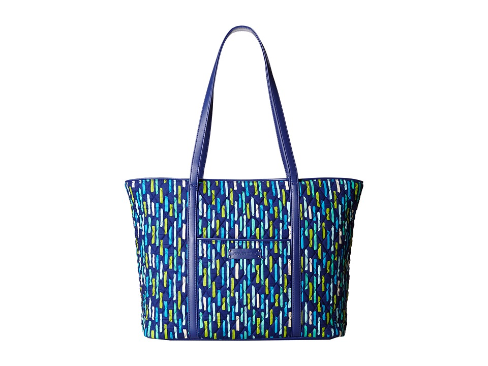 Vera Bradley - Trimmed Vera Laptop Tote (Katalina Showers/Navy) Tote Handbags