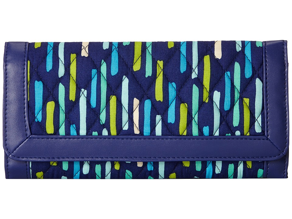Vera Bradley - Trifold Wallet (Katalina Showers/Navy) Wallet Handbags