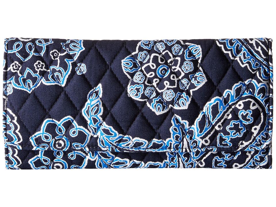 Vera Bradley - Trifold Wallet (Blue Bandana) Wallet Handbags