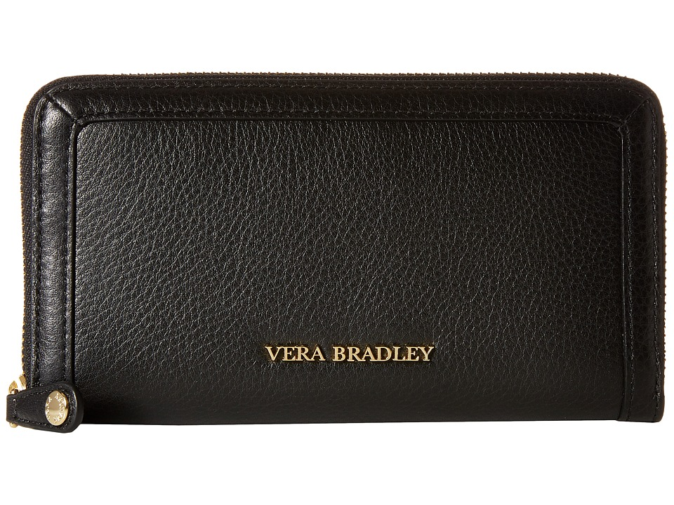 Vera Bradley - Georgia Wallet (Black) Wallet Handbags
