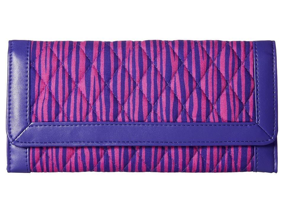Vera Bradley - Trifold Wallet (Impressionista Stripe/Violet) Wallet Handbags