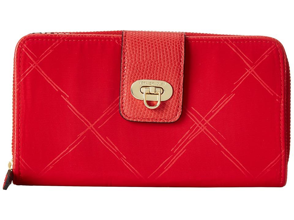 Vera Bradley - Preppy Poly Wallet (Tango Red) Wallet Handbags