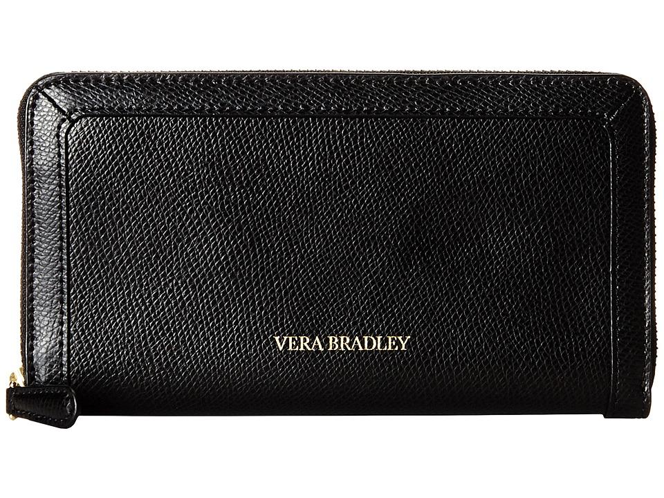 Vera Bradley - Georgia Wallet (Black 1) Wallet Handbags
