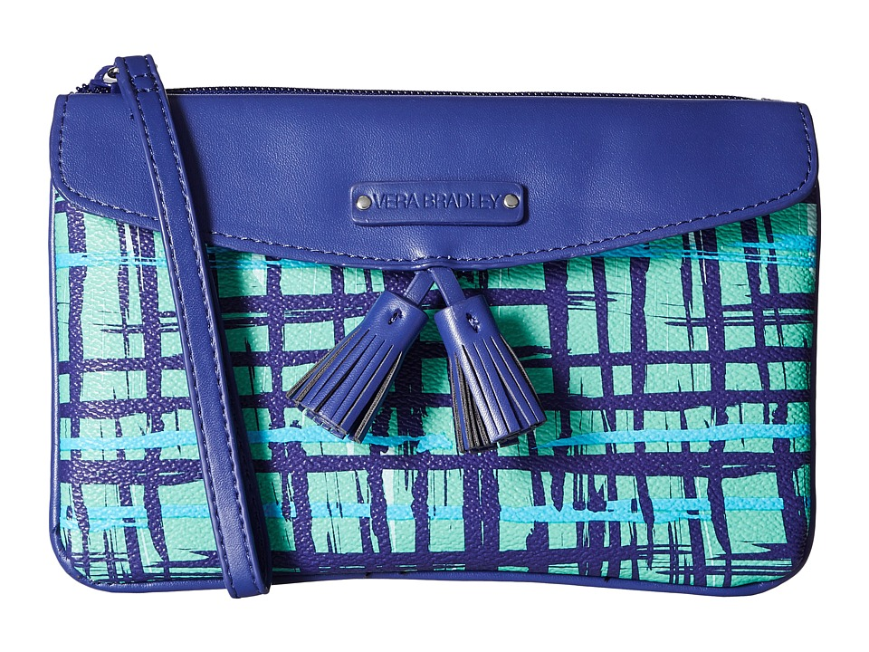 Vera Bradley - Tassel Wristlet (Navy/Teal Art Plaid) Wristlet Handbags