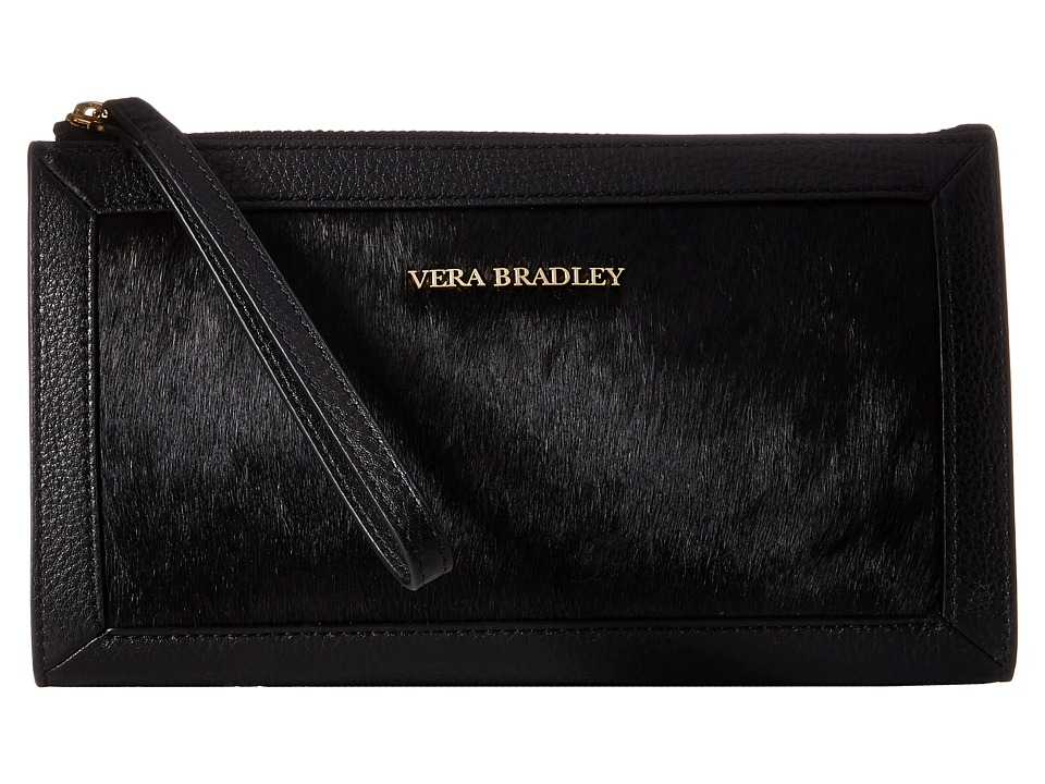 Vera Bradley - Calf Hair Wristlet (Black) Wristlet Handbags