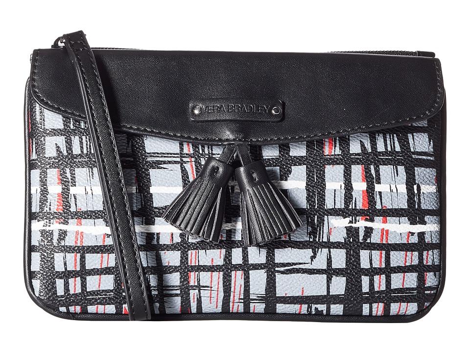Vera Bradley - Tassel Wristlet (Black/White Art Plaid) Wristlet Handbags