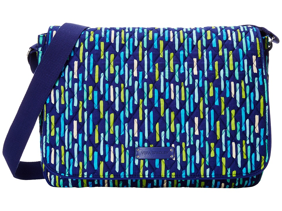 Vera Bradley - Laptop Messenger (Katalina Showers) Messenger Bags