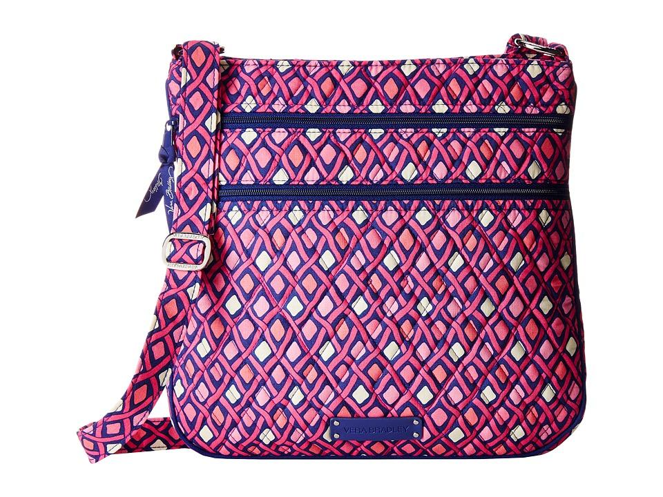 Vera Bradley - Triple Zip Hipster (Katalina Pink Diamonds) Cross Body Handbags