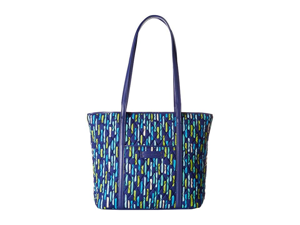 Vera Bradley - Small Trimmed Vera (Katalina Showers/Navy) Tote Handbags