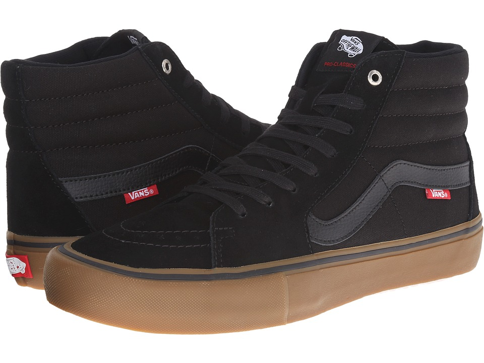 Vans - SK8-Hi Pro (Black/Gum) Men's Skate Shoes