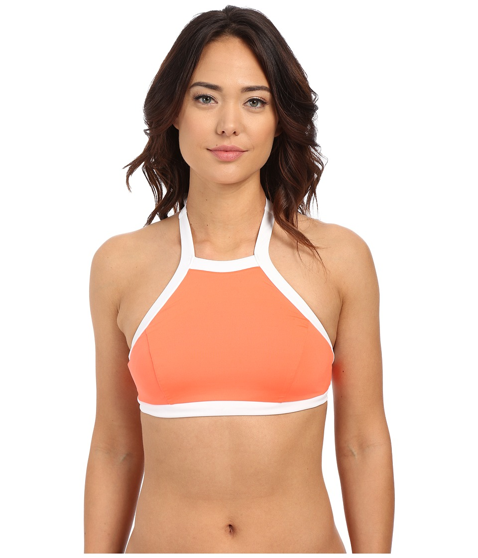 Seafolly - Block Party High Neck Tank (Nectarine) Women's Swimwear