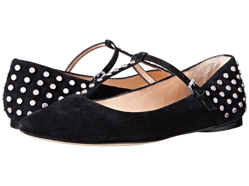 Belle by Sigerson Morrison - Valeda (Black Suede) Women's Flat Shoes