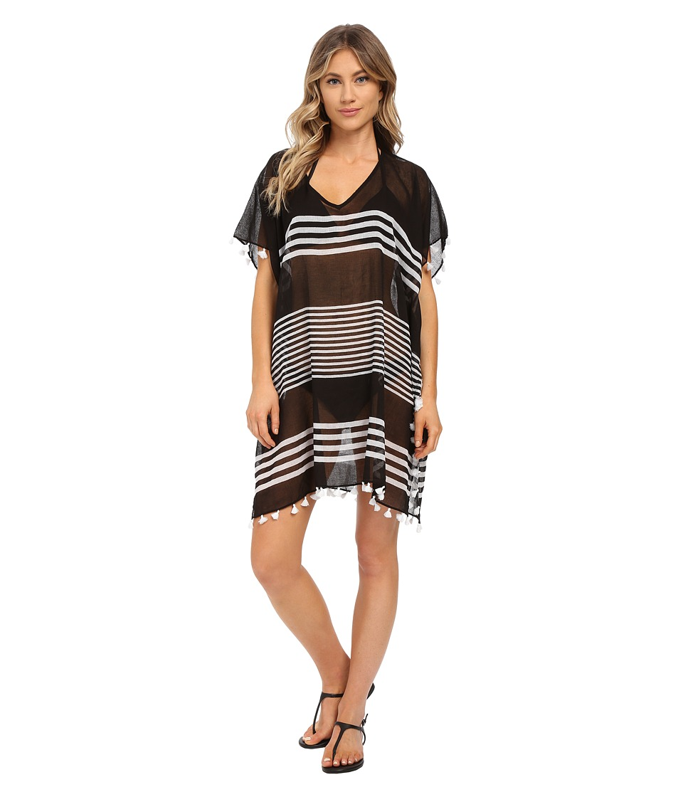 Seafolly - Gilli Island Kaftan Cover-Up (Black) Women's Swimwear