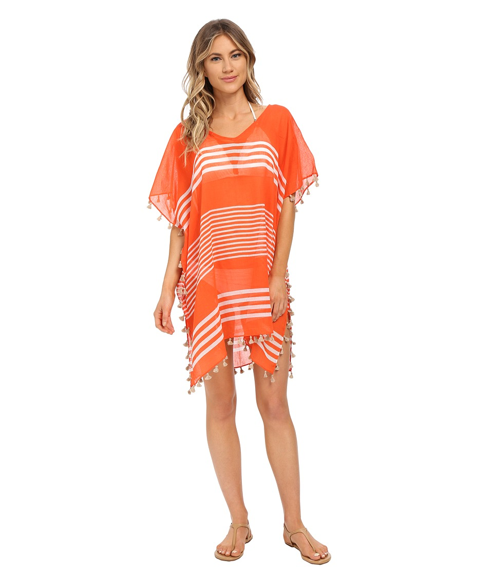 Seafolly - Gilli Island Kaftan Cover-Up (Nectarine) Women's Swimwear