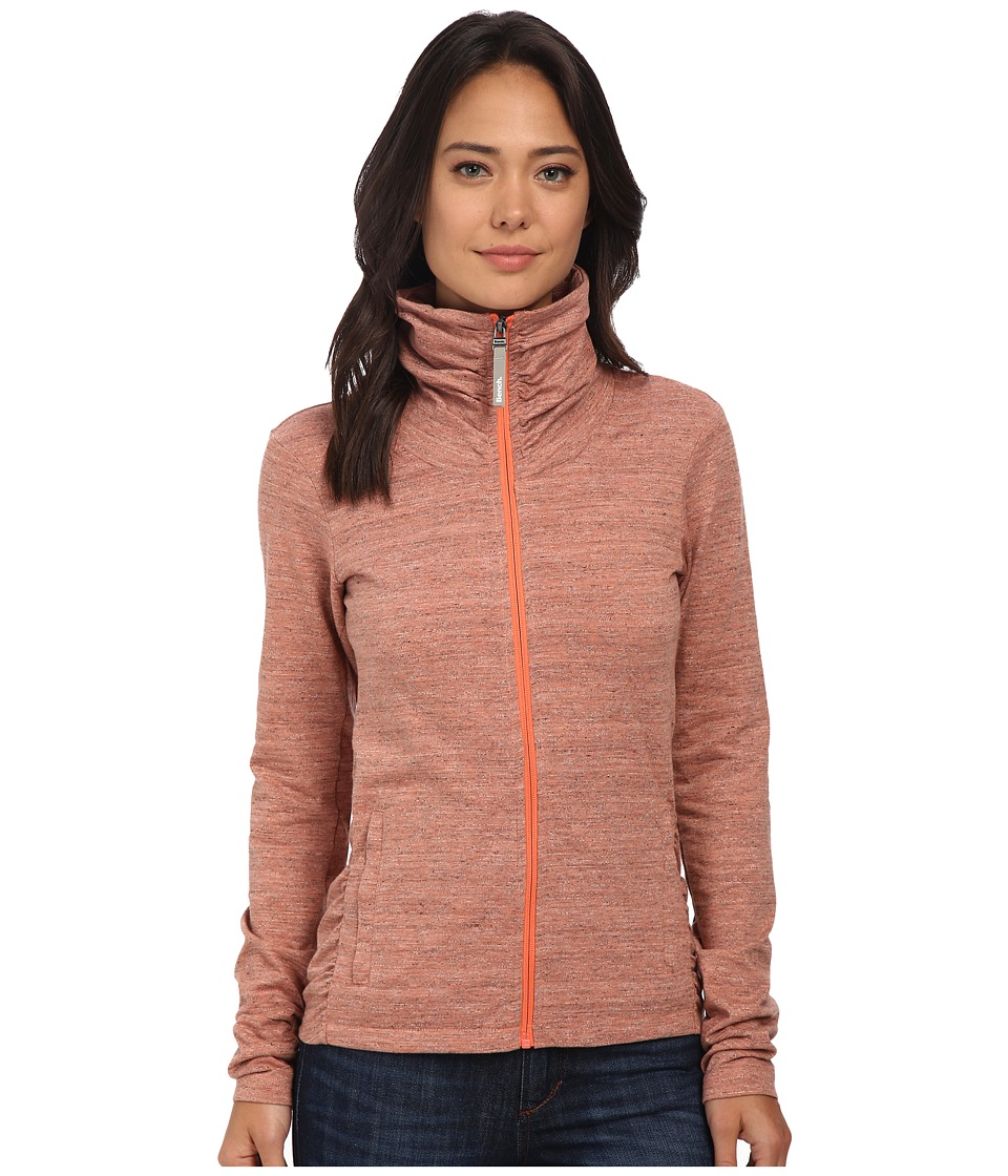 Bench - Nolie B Zip Thru (Coral Marl) Women's Clothing