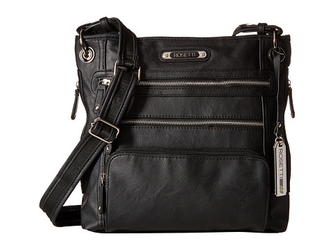 Rosetti - In Motion Large Crossbody (Black) Cross Body Handbags