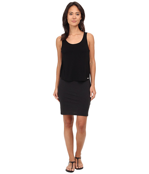 Bench - Flashed Dress (Jet Black) Women's Dress