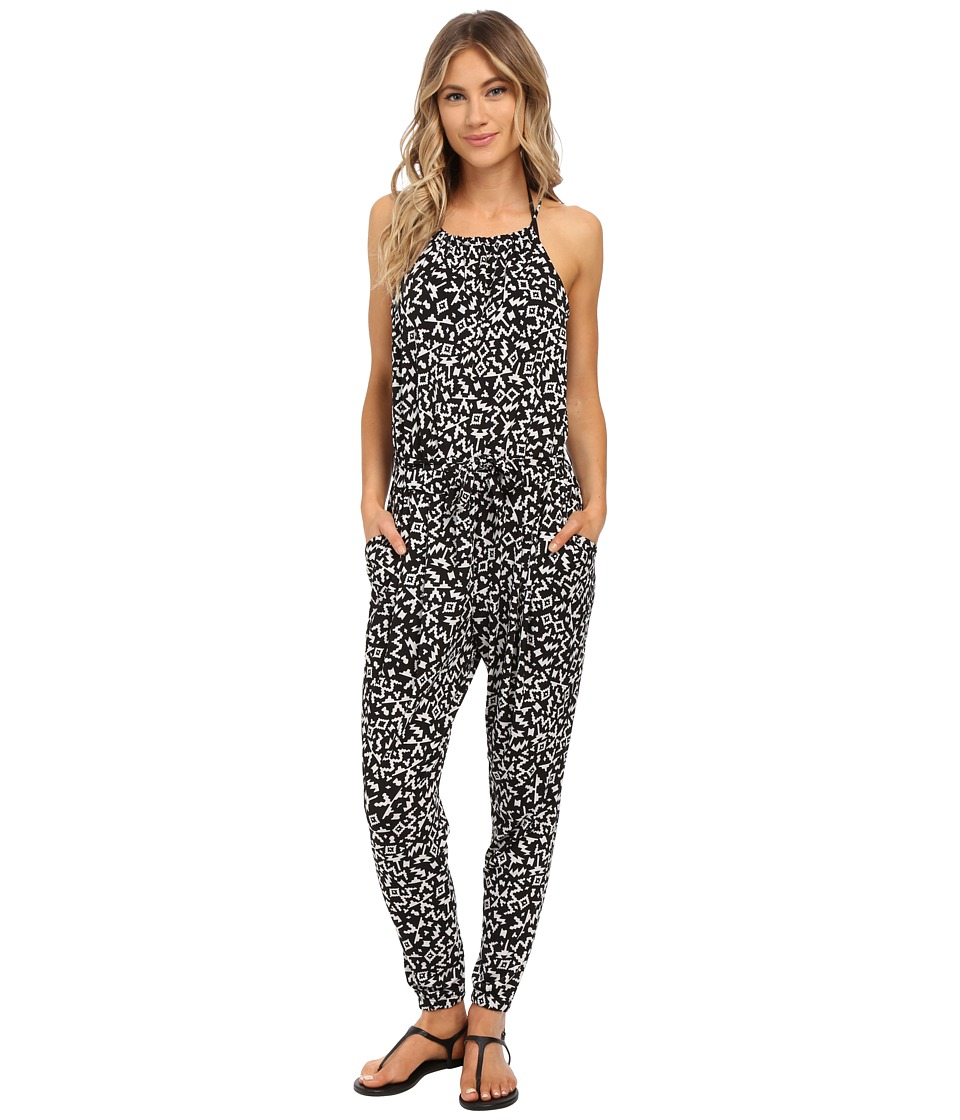 Seafolly - Safari Jumpsuit Cover-Up (Black/White) Women's Jumpsuit & Rompers One Piece