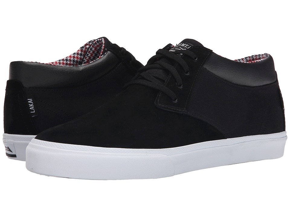 Lakai - MJ Mid (Black Suede) Men