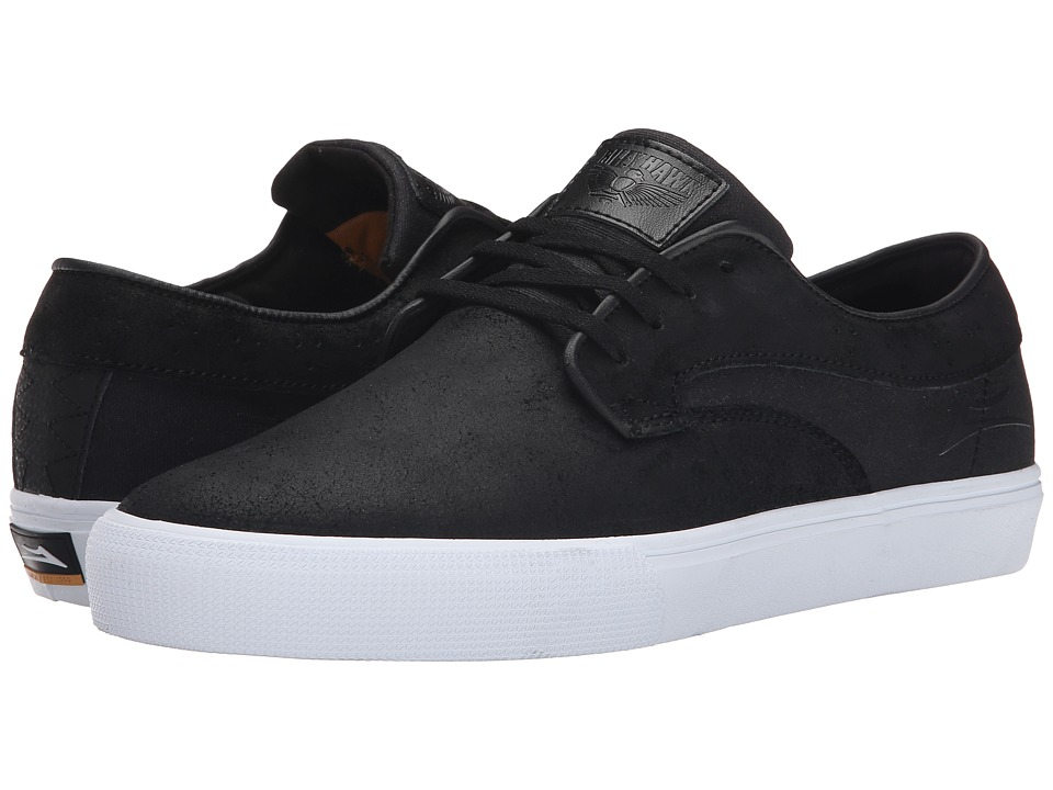 Lakai - Riley Hawk (Black Oiled Suede) Men's Skate Shoes