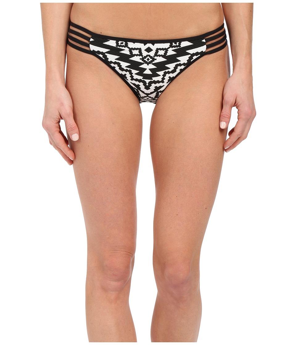 Seafolly - Kasbah Multi Strap Hipster Bottom (Black/White) Women's Swimwear