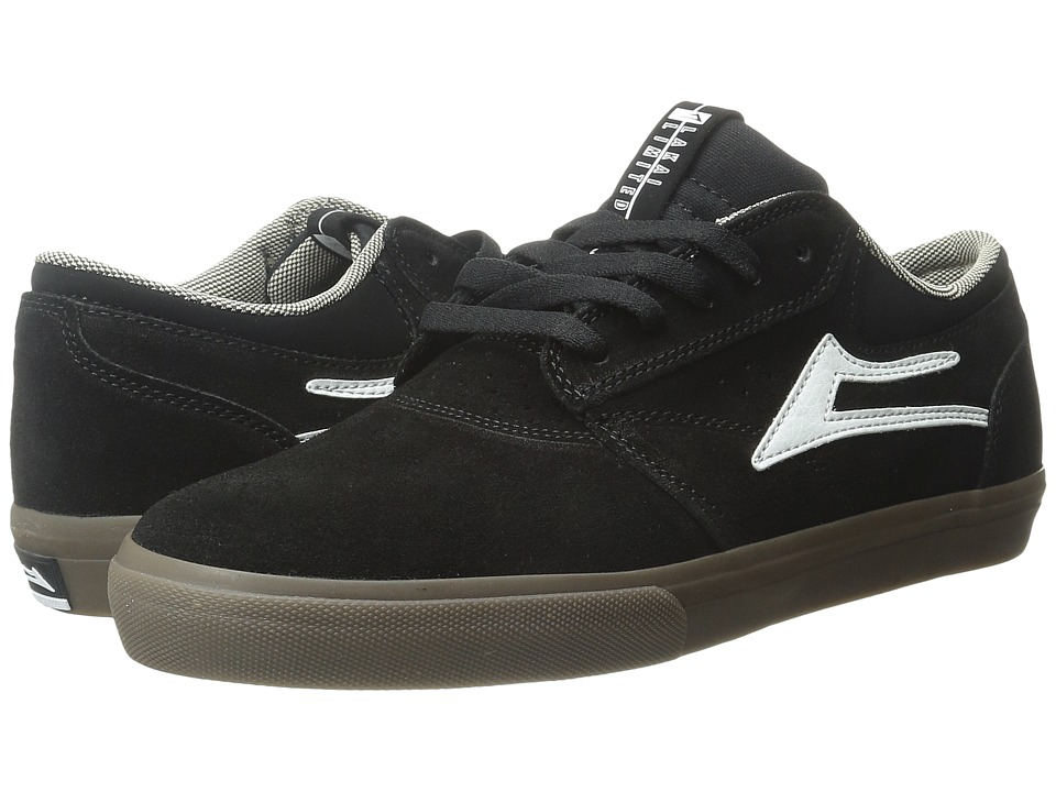Lakai - Griffin (Black/Dark Gum Suede) Men's Skate Shoes