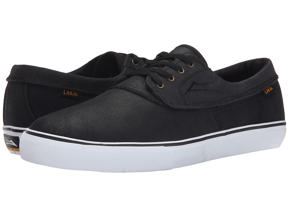 Lakai - Camby (Black Oiled Suede) Men's Skate Shoes
