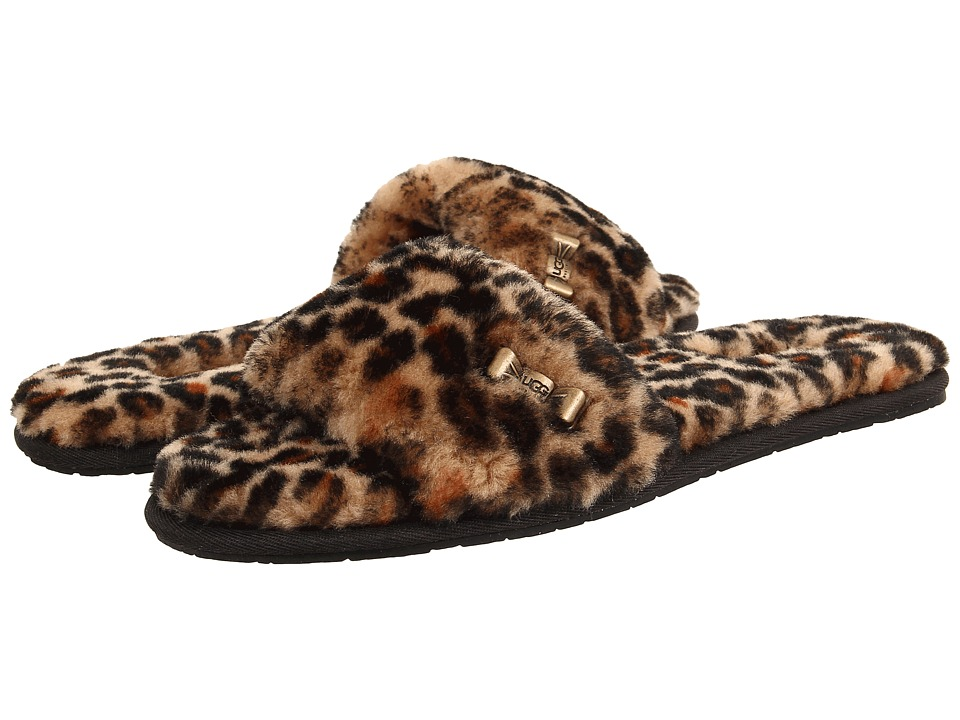 UGG - Leopard Slide (Chestnut Leopard/Sheepskin) Women's Slide Shoes