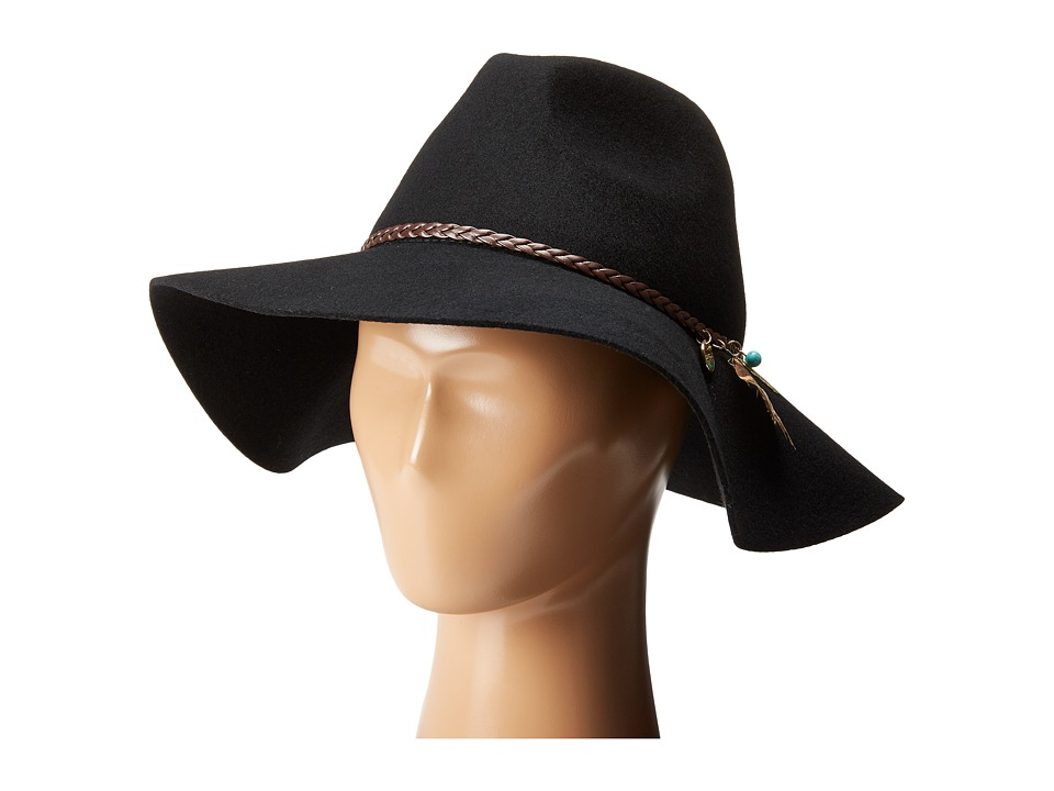 Seafolly - Wayfarer Floppy Hat (Black) Traditional Hats