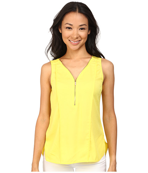 Calvin Klein - Half Zip Flanged Tank Top (Koi) Women