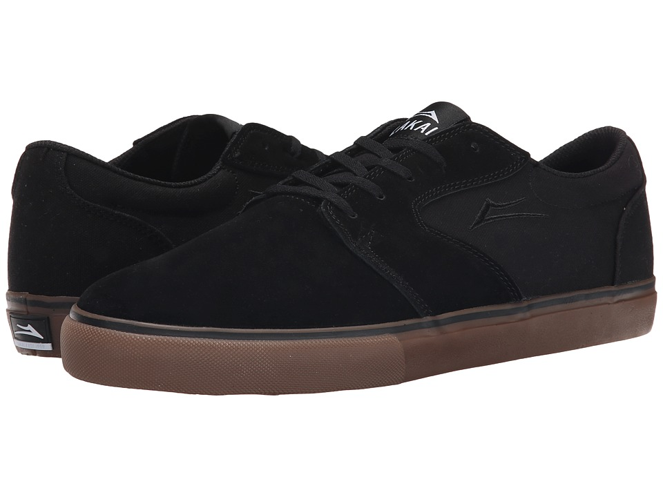 Lakai Fura (Black/Gum Suede) Men's Skate Shoes