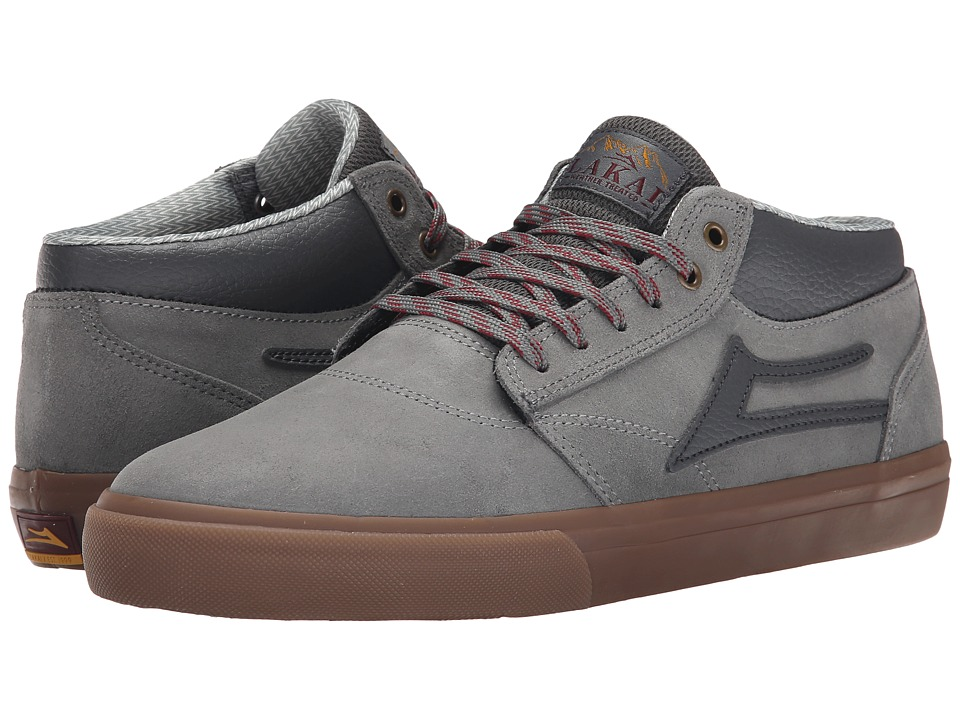 Lakai - Griffin Mid All-Weather (Grey/Gum Oiled Suede) Men's Skate Shoes