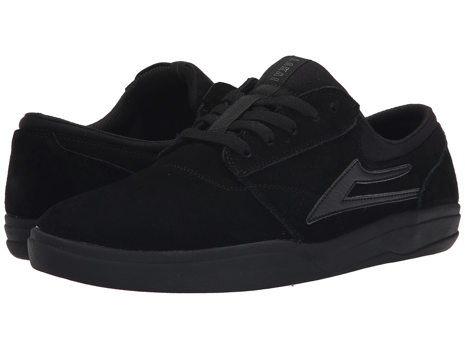 Lakai - Griffin XLK (Black/Black Suede) Men's Skate Shoes