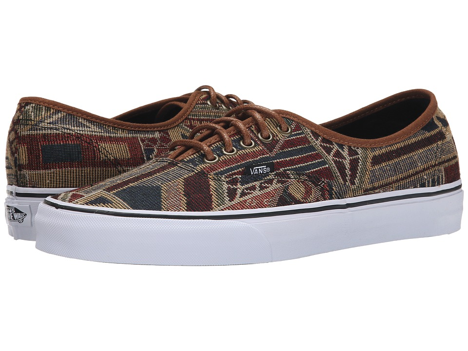 Vans - Authentic ((Geo Weave) Brown/Multi) Skate Shoes