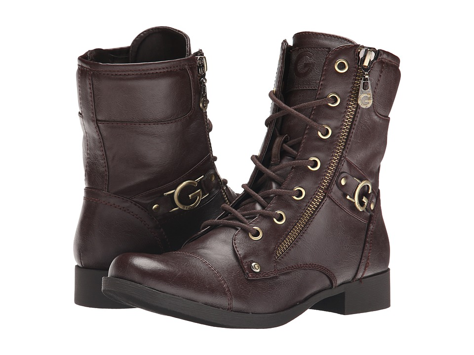 G by GUESS - Bates (Espresso) Women's Lace-up Boots