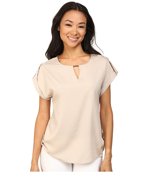 Calvin Klein - Side Tab Top w/ Hardware (Latte) Women