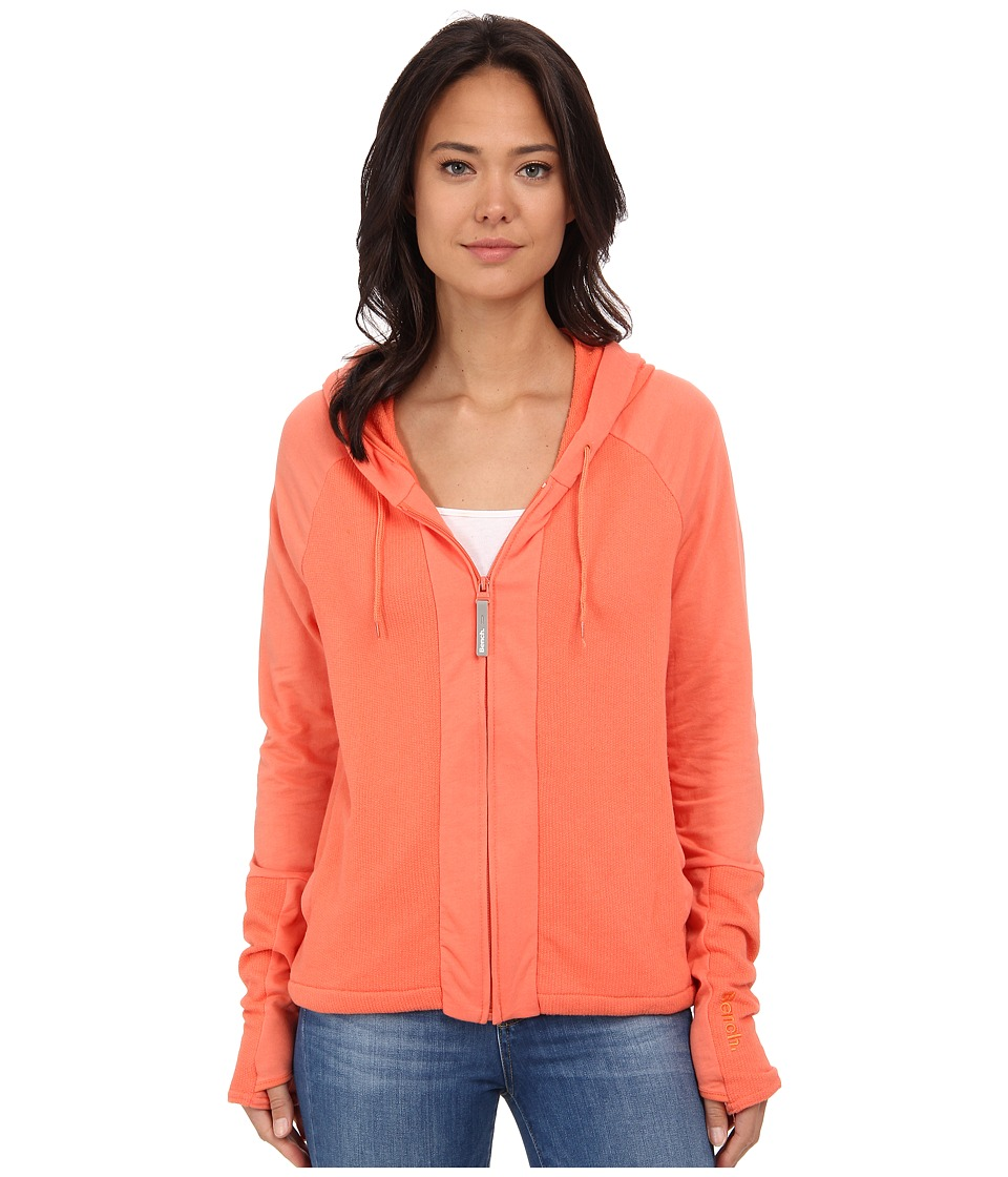 Bench - Bubblemix Zip Thru (Coral) Women's Sweatshirt