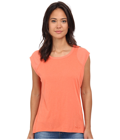 Bench - Vapourz Short Sleeve Top (Coral) Women's Short Sleeve Pullover