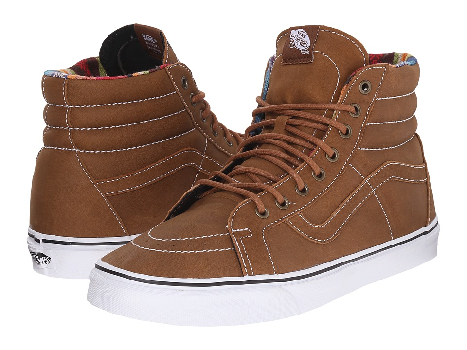 Vans - SK8-Hi Reissue ((Leather) Brown/Guate) Skate Shoes
