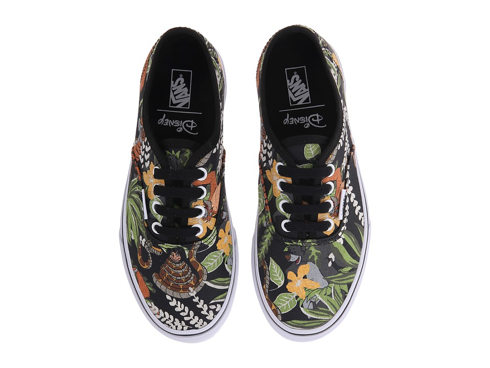 Vans Kids - Disney Authentic (Little Kid/Big Kid) ((Disney) The Jungle Book/Black) Kids Shoes