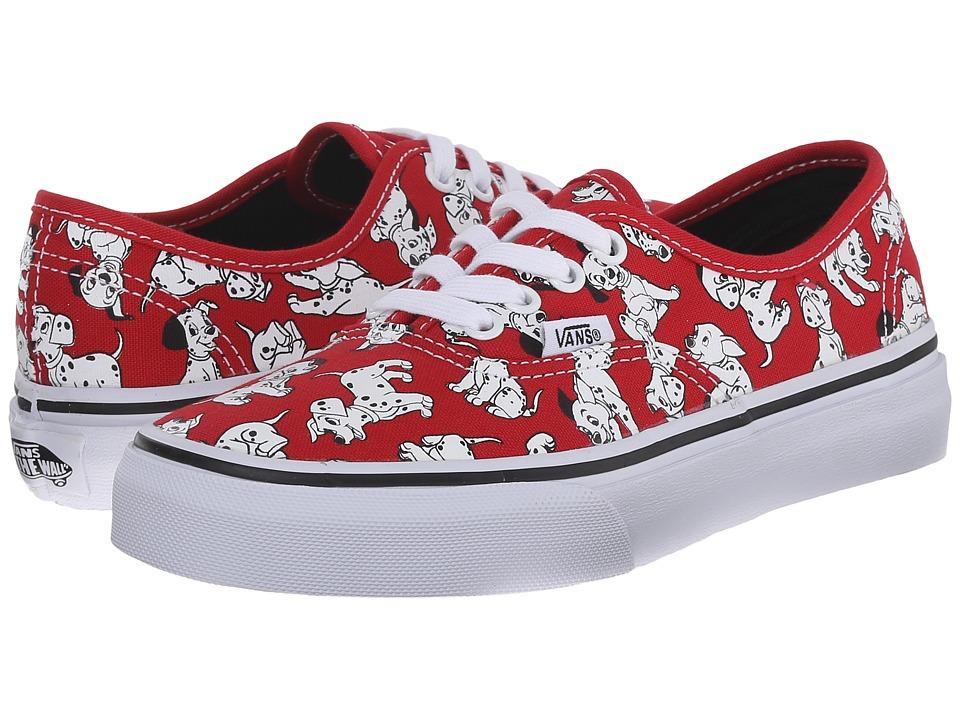 Vans Kids - Disney Authentic (Little Kid/Big Kid) ((Disney) Dalmatians/Red) Kids Shoes